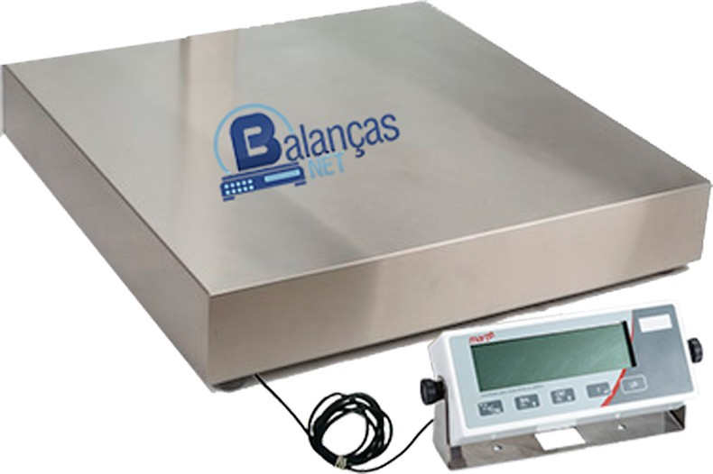 BALANÇA ELETRÔNICA 500kg x 100g - PLATAFORMA INOX 70x70cm - MARTE