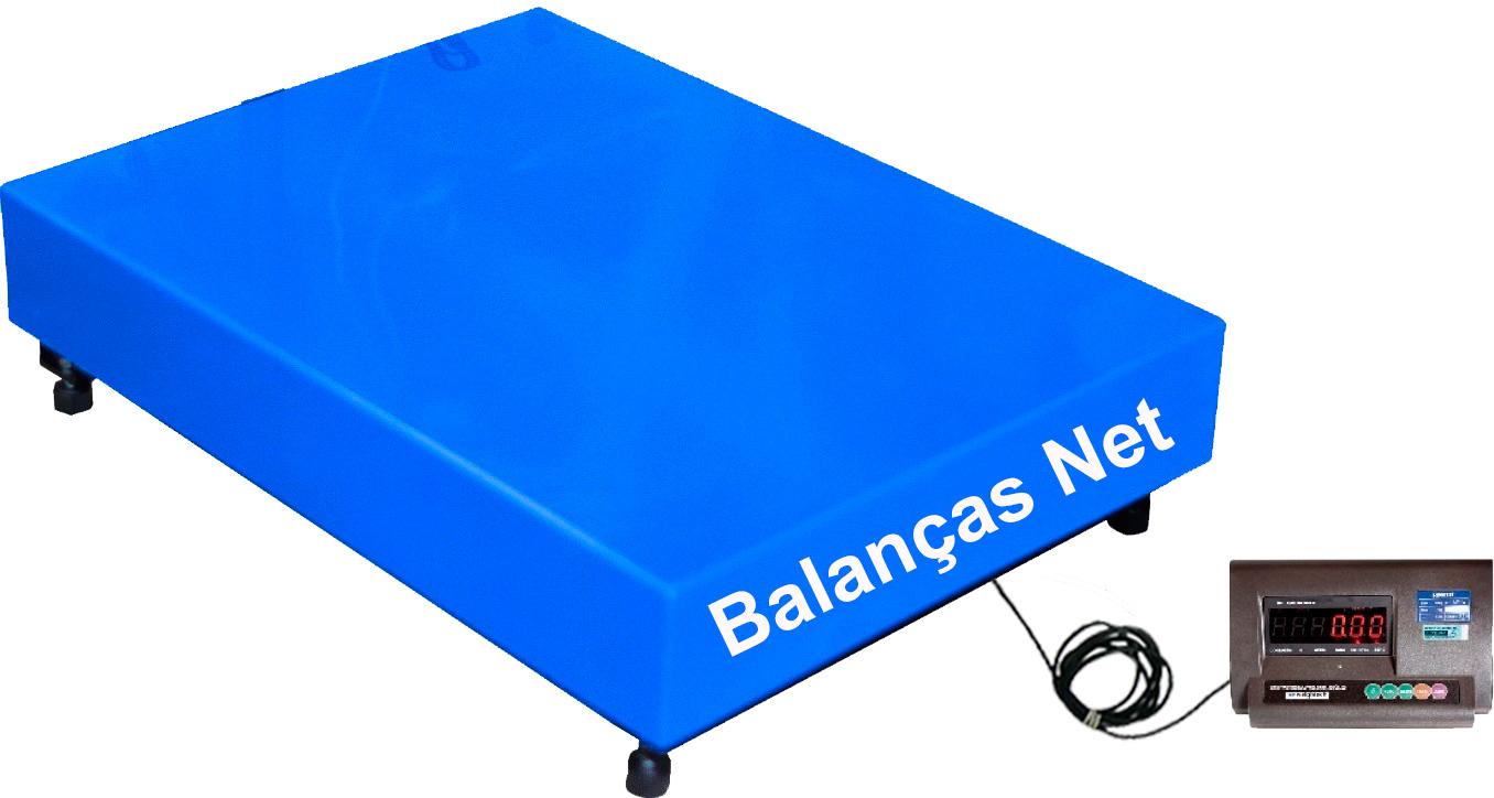BALANÇA DIGITAL ELETRÔNICA 700kg x 200g - PLATAFORMA AÇO CARBONO  60x80cm - Coluna Removível