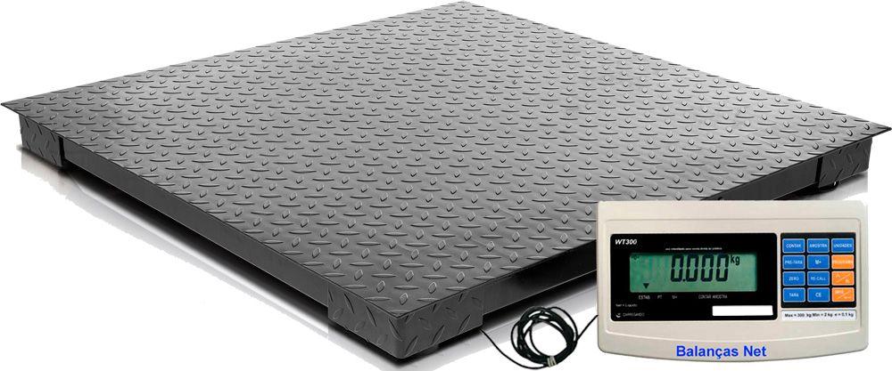 Balança 2000kg Eletrônica Pesadora e Contadora - Plataforma 1,20x1,20m