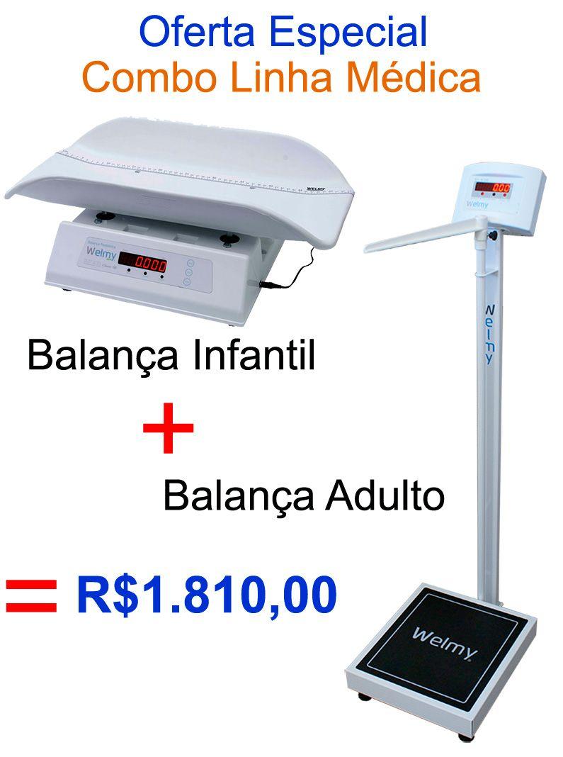 COMBO - BALANÇA INFANTIL + BALANÇA ADULTO