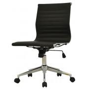 cadeira office sevilha corino preta baixa  sem braço