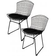 Kit 2x Cadeira Bertoia Tradicional Preta - Ponta de Estoque