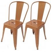 Kit 2x Cadeira Tolix Iron Capuccino - Ponta de Estoque