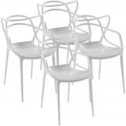 Kit 4x Cadeira Solna Allegra Policarbonato - Diversas Cores - Lote 2015