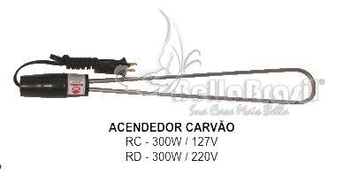 Acendedor Eletrico 300 Watts - 220v