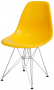 Cadeira Eames DSR Polipropileno Base Eiffel Cromada - Aquece Black Friday