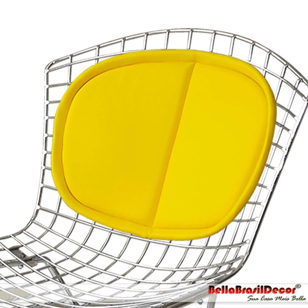 Almofada Encosto Para Cadeira e Banqueta Bertoia