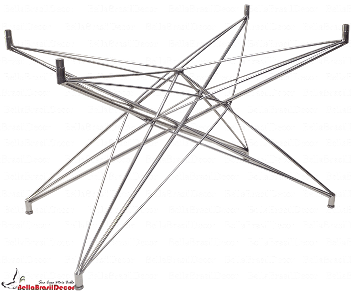 Base de Mesa Estrela Retangular Inox