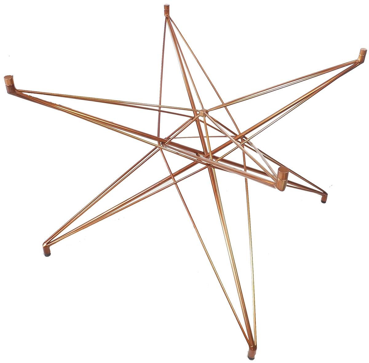 Base de Mesa Estrela Quadrada Acobreada