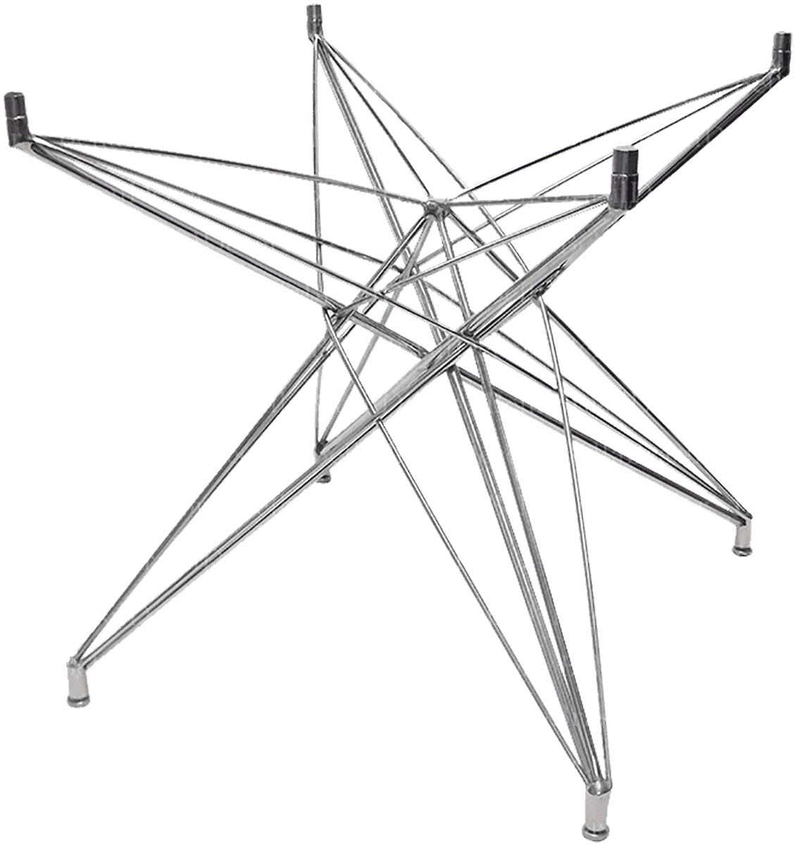 Base de Mesa Estrela Quadrada Pequena Inox - 69x69