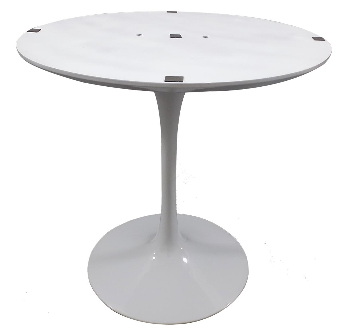 Base de Mesa Saarinen de Jantar Redonda Branca em Aluminio para Tampos de 0,90 até 1,07