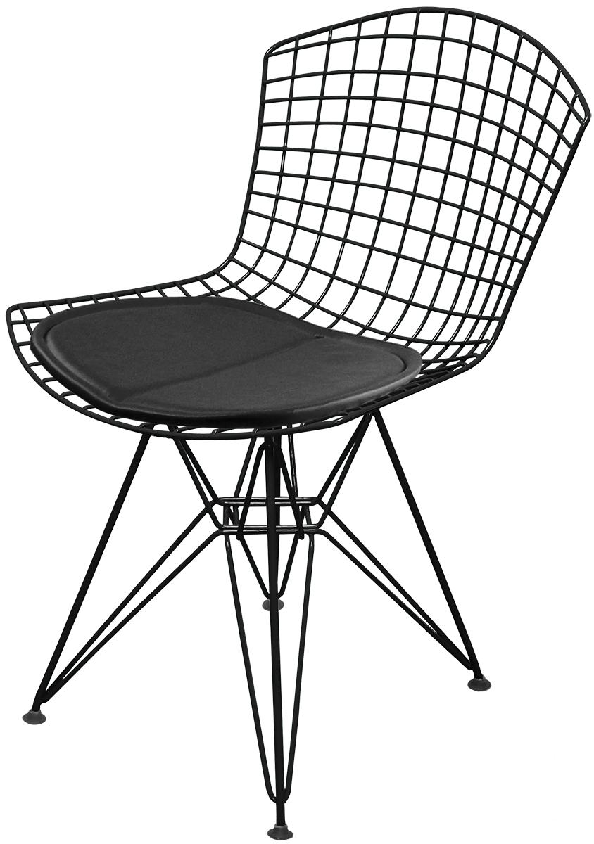 Cadeira Bertoia DKR com Assento Preto Lote 1 - Ponta de Estoque