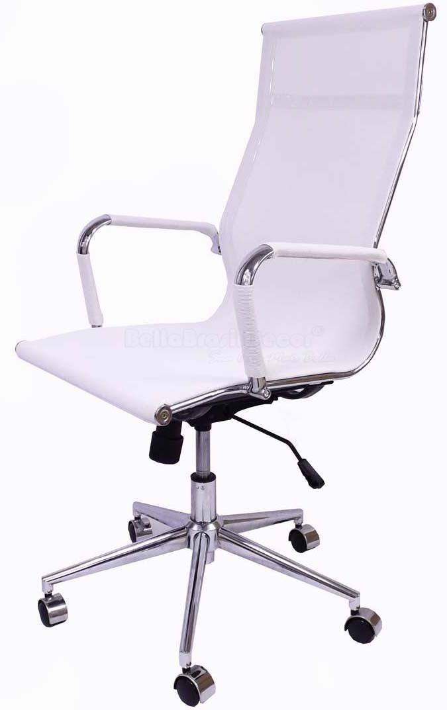 Cadeira Charles Eames Office Esteirinha Tela Mesh Alta - Aquece Black Friday