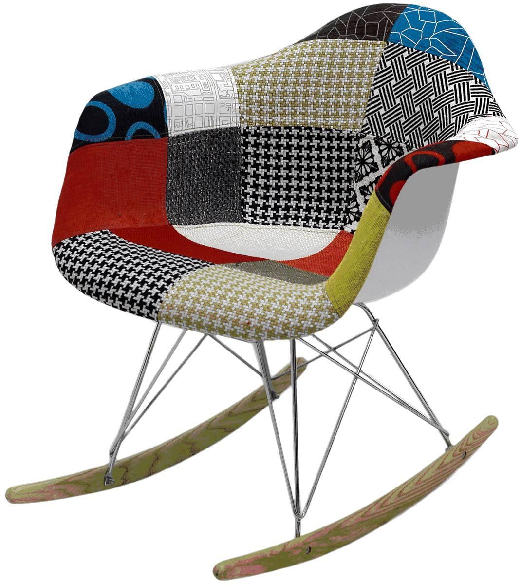 Cadeira Balanço Eames RAR Patchwork