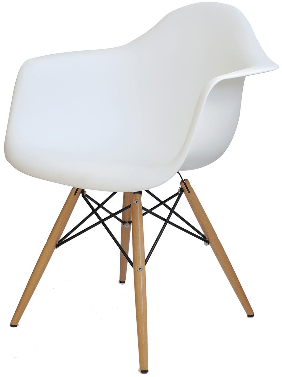 Cadeira Eames DAW com Braço Base Eiffel Madeira