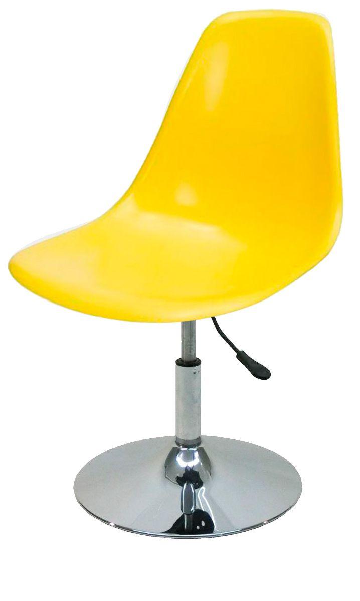 Cadeira Eames Dsr Polipropileno com Base Disco