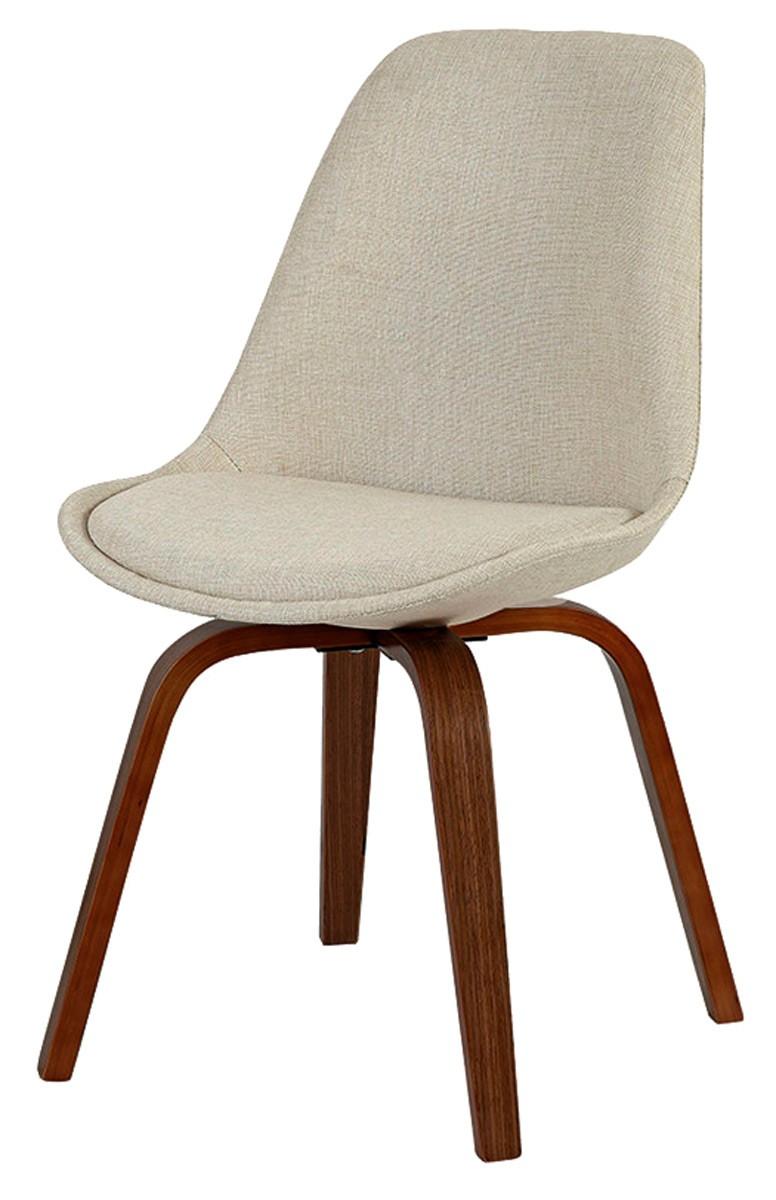Cadeira Lis em linho com base madeira