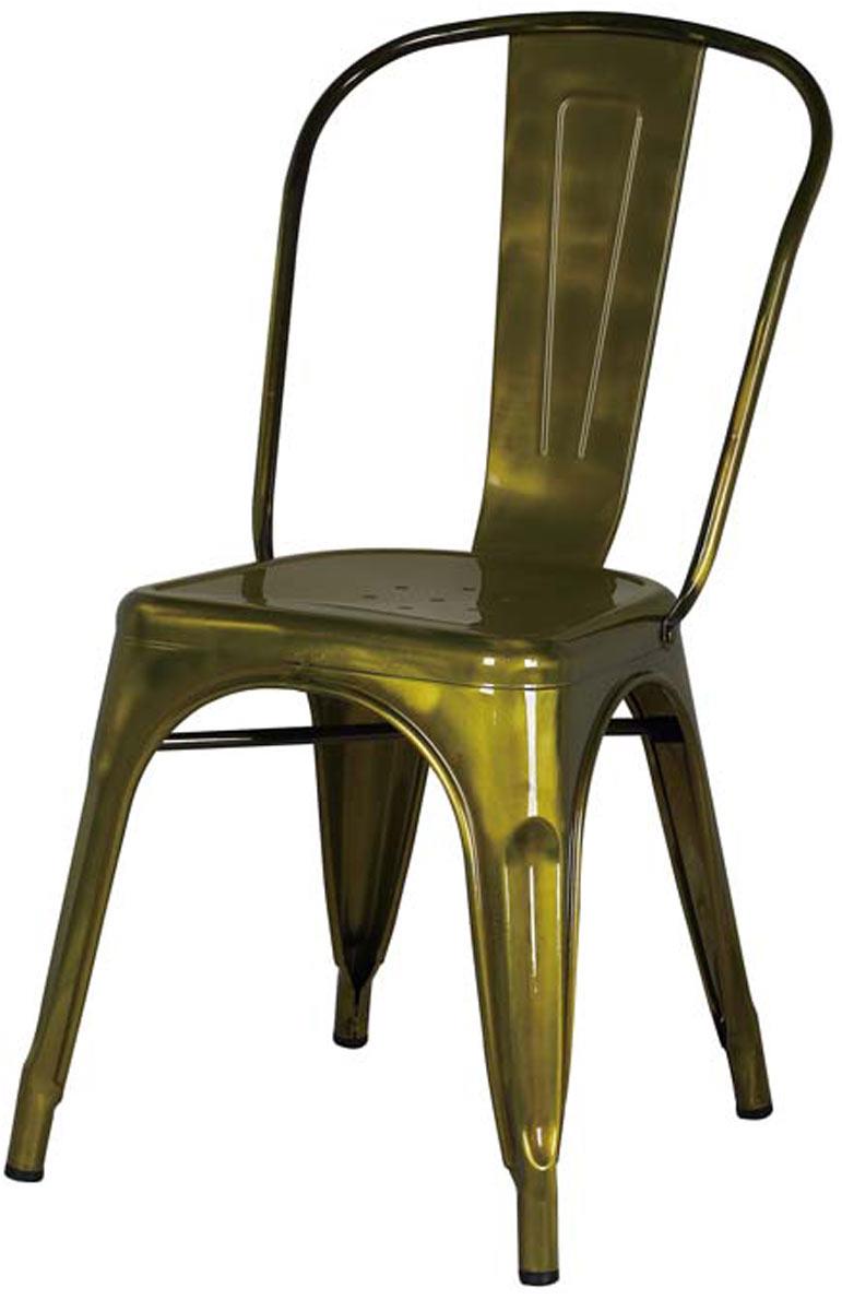 Cadeira Tolix Iron Francesinha Gold Vintage