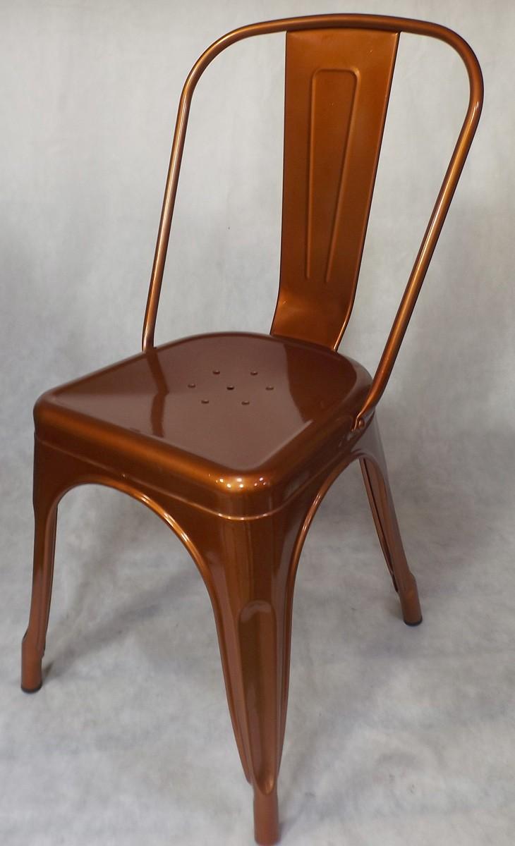 Cadeira Tolix Iron Vermelho Acobreado Vintage - Ponta de Estoque