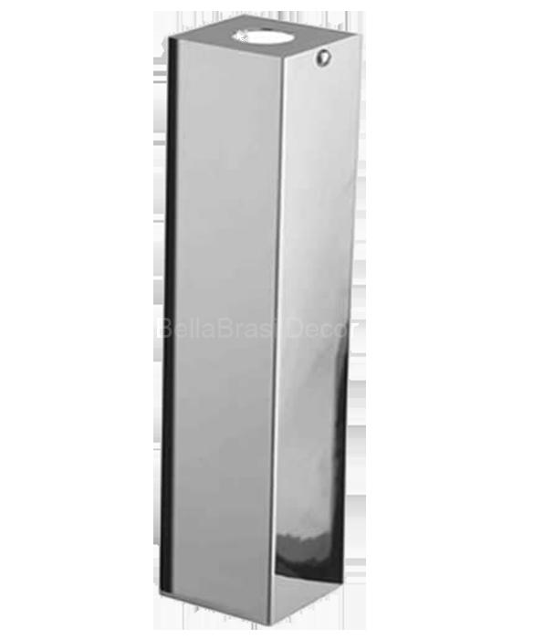 Capa De Sifao Quadrada Em Inox - 40cm