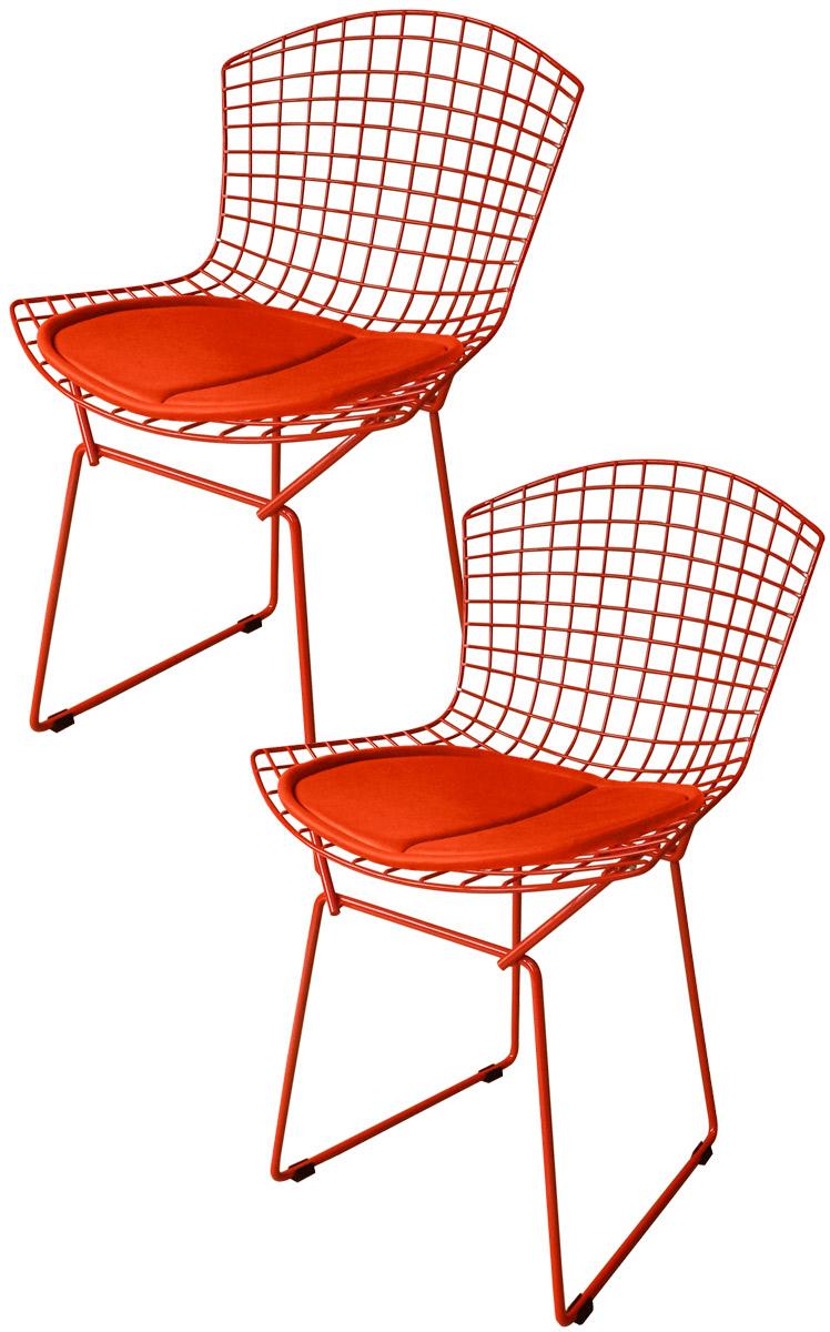 Kit 2x Cadeira Bertoia Tradicional Vermelha - Ponta de Estoque