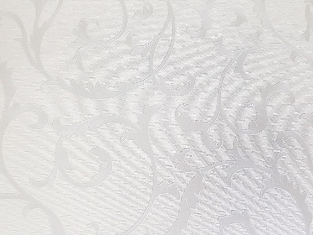Papel de Parede Branco e Prata SB2115503