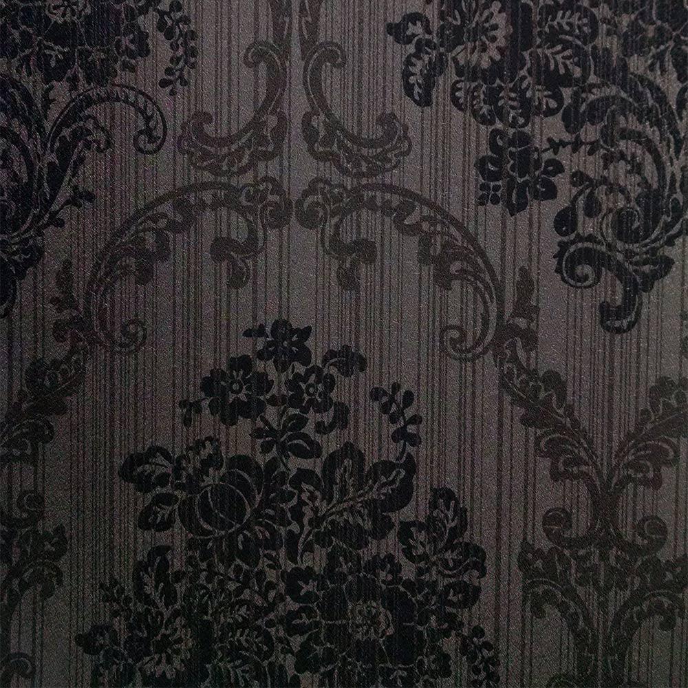 Papel de parede arabesco papel de parede preto grafite - Paredes de papel ...