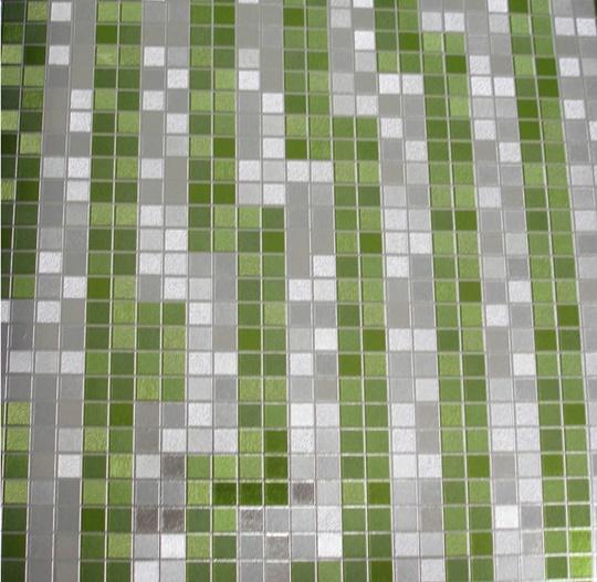 Papel de parede Verde e Prata PL2013301