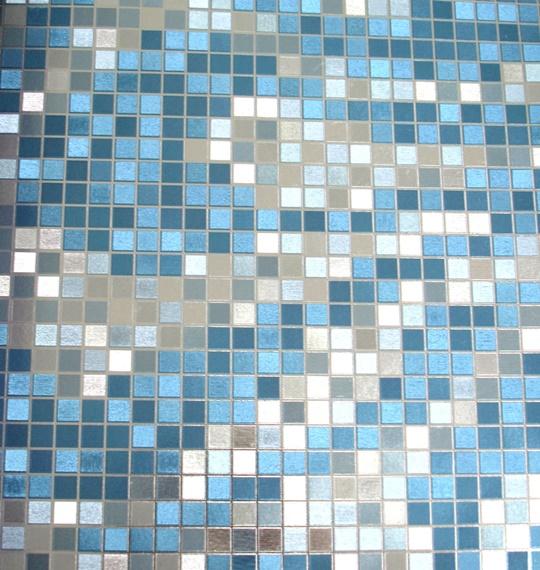 Papel de parede Azul e Prateado PL2813705