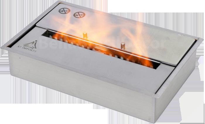 Queimador para lareira Be Caixa Dupla 30cm 2,5L