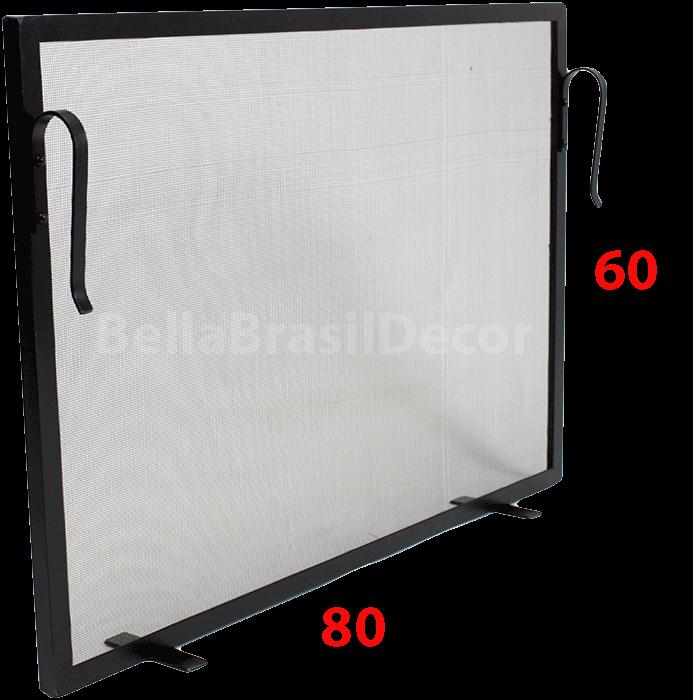 Tela de Proteção para Lareira 80x60
