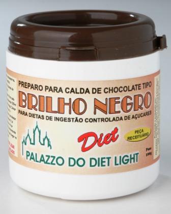 PREPARO PARA BRILHO NEGRO DIET LIGHT - Familia Doçurinha  - PALAZZO DO DIET LIGHT