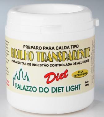 PREPARO PARA BRILHO TRANSPARENTE DIET LIGHT - Família Doçurinha  - PALAZZO DO DIET LIGHT