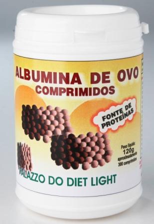 ALBUMINA DE OVO COMPRIMIDO - Grupo Palazzo do Diet Light  - PALAZZO DO DIET LIGHT