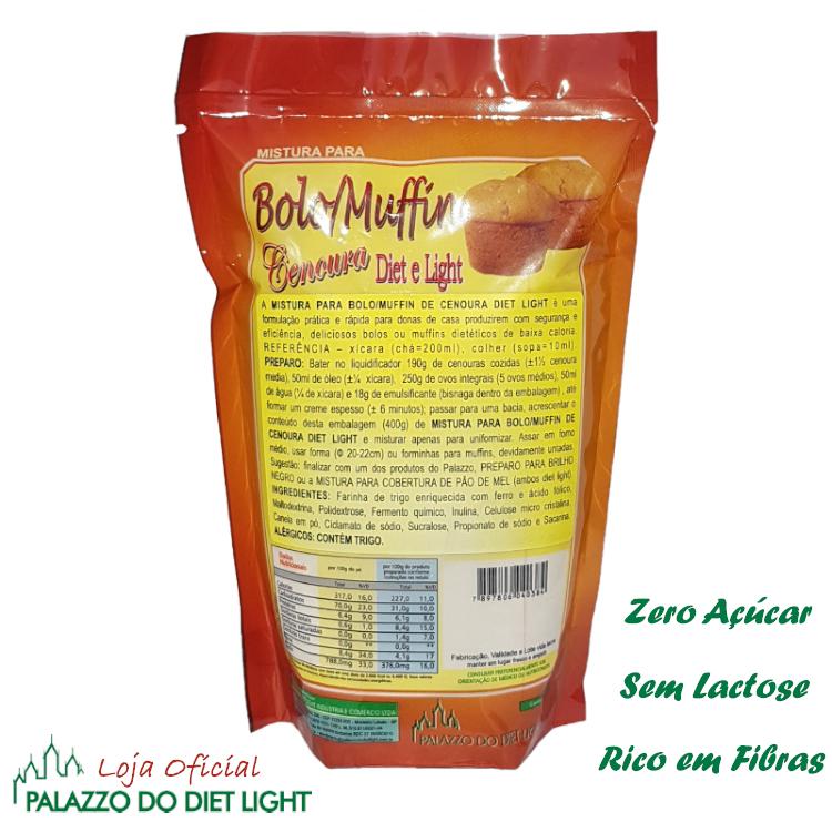 Bolo de Cenoura Diet Light  - PALAZZO DO DIET LIGHT