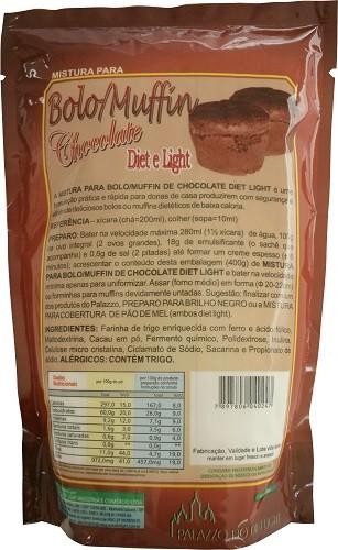 Mistura para Bolo/Muffin de Chocolate Diet Light - Família Doçurinha  - PALAZZO DO DIET LIGHT