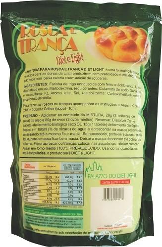 Rosca e Trança Diet Light (Mistura) - Família Doçurinha  - PALAZZO DO DIET LIGHT