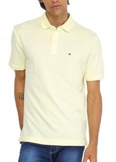 Camisa Polo Tommy Hilfiger Custom Fit Amarelo Claro
