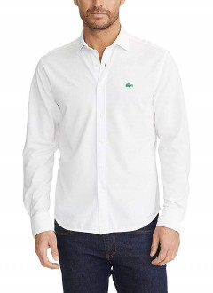 Camisa Lacoste Masculina Regular Cotton Oxford Strech Branca