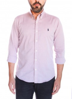 Camisa Ralph Lauren Masculina Slim Fit Checkered Xadrez Rosa