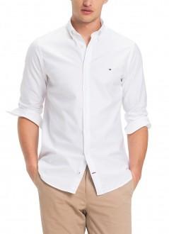Camisa Tommy Hilfiger Masculina Regular Fit Cotton Oxford Branca