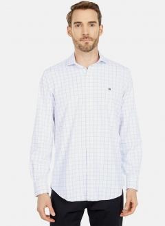 Camisa Tommy Hilfiger Regular Fit Checkered Quadriculada Branco