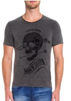 Camiseta John John Masculina Forever Young Cinza