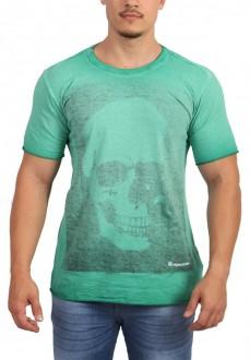 Camiseta John John Masculina Inside Out Skull Double Face Verde