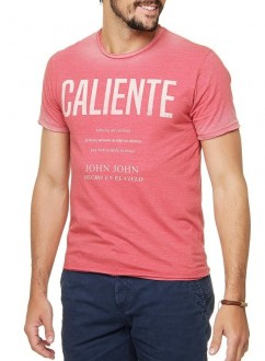 Camiseta John John Masculina RG Caliente Coral