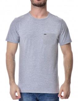 Camiseta Sergio K Masculina Com Bolso Tignes Ski Trip Cinza