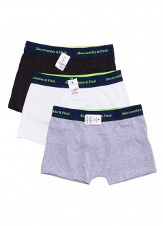 Cuecas Abercrombie & Fitch Boxer Thunk Multicores Kit Pack 3 Unidades