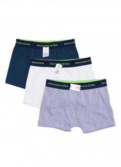 Cuecas Abercrombie & Fitch Boxer Thunk Multicores Kit Pack 3 Unidades