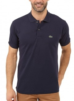 Polo Lacoste Masculina Regular Fit Piquet Azul Marinho