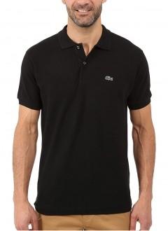 Polo Lacoste Masculina Regular Fit Piquet Preto